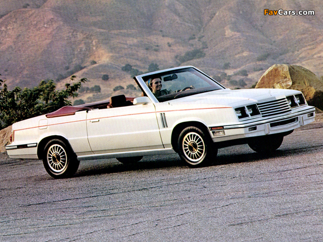 Images of Dodge 600 Convertible 1985 (640 x 480)