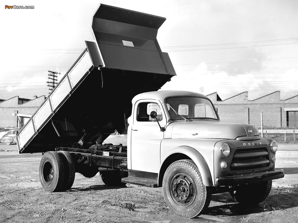 Photos of Dodge 8-65 AD Dump Truck 1955–58 (1024 x 768)