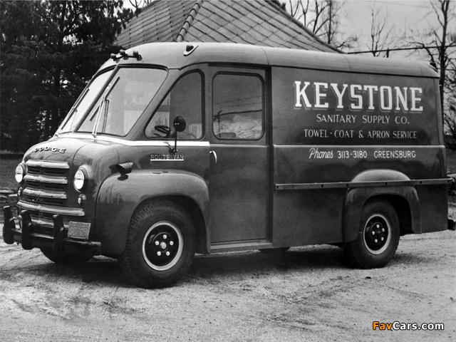 Photos of Dodge Job-Rated Route Van (B-1-DU) 1948 (640 x 480)