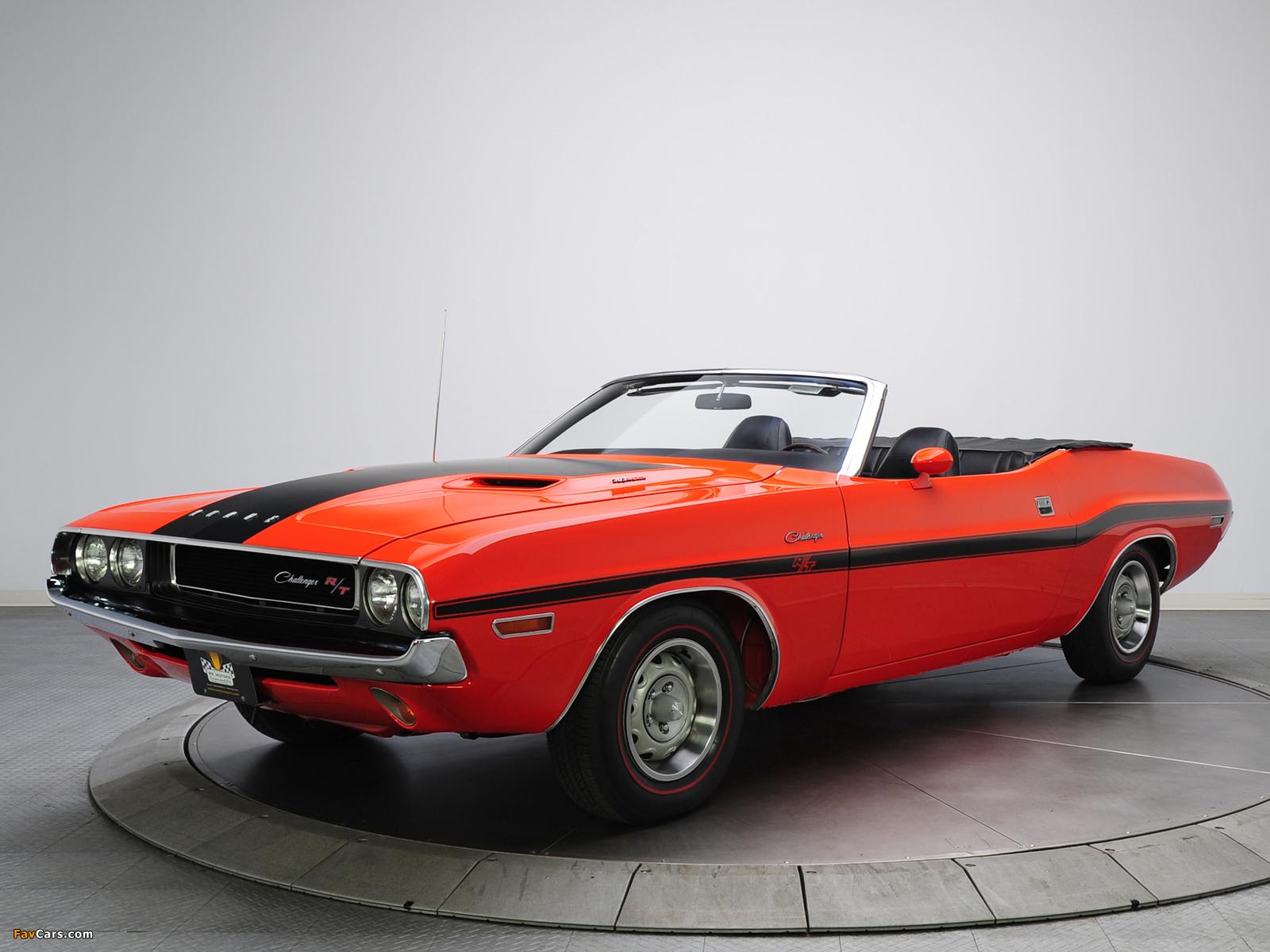Dodge Challenger R/T 383 Magnum Convertible (JS27) 1970 images (1600 x 1200)