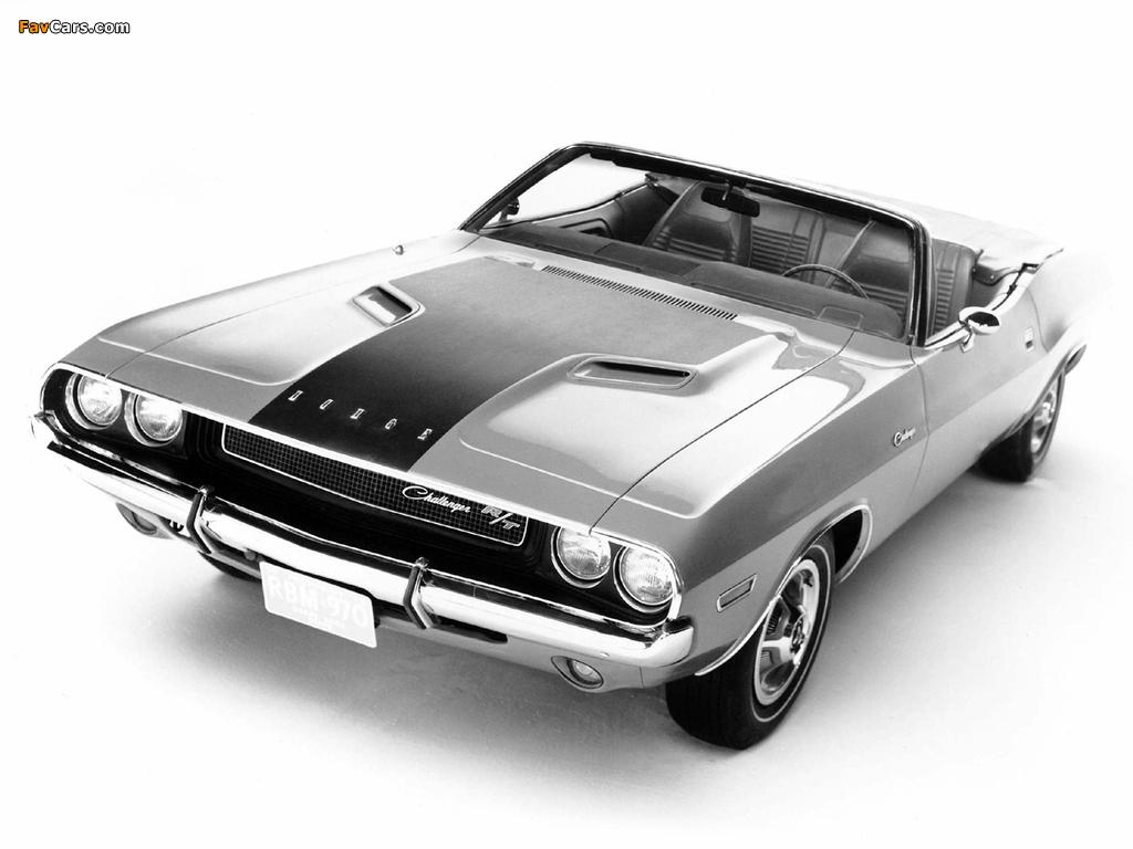 Dodge Challenger R/T Convertible (JS27) 1970 photos (1024 x 768)