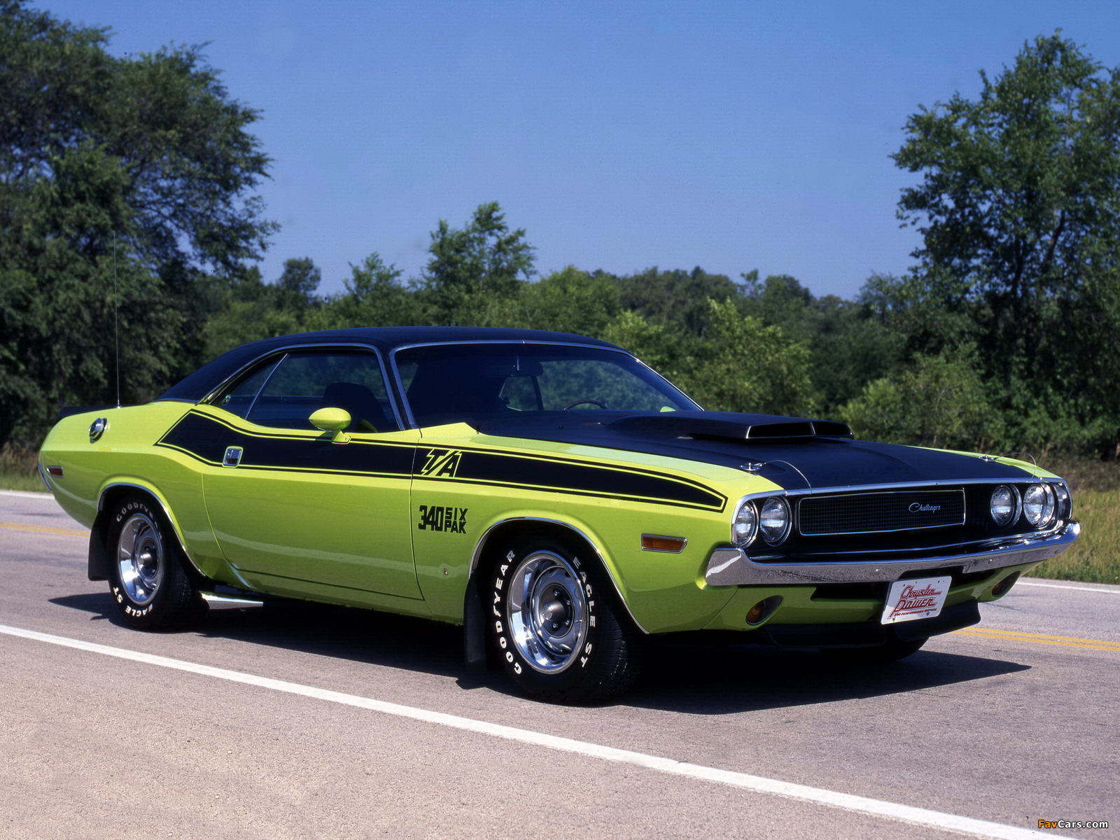 Images of Dodge Challenger T/A 340 Six Pack 1970 (1600 x 1200)