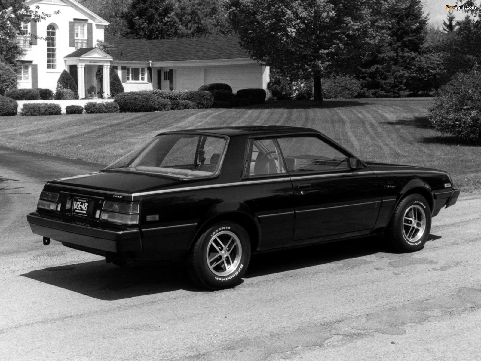 Images of Dodge Challenger 1982 (1600 x 1200)