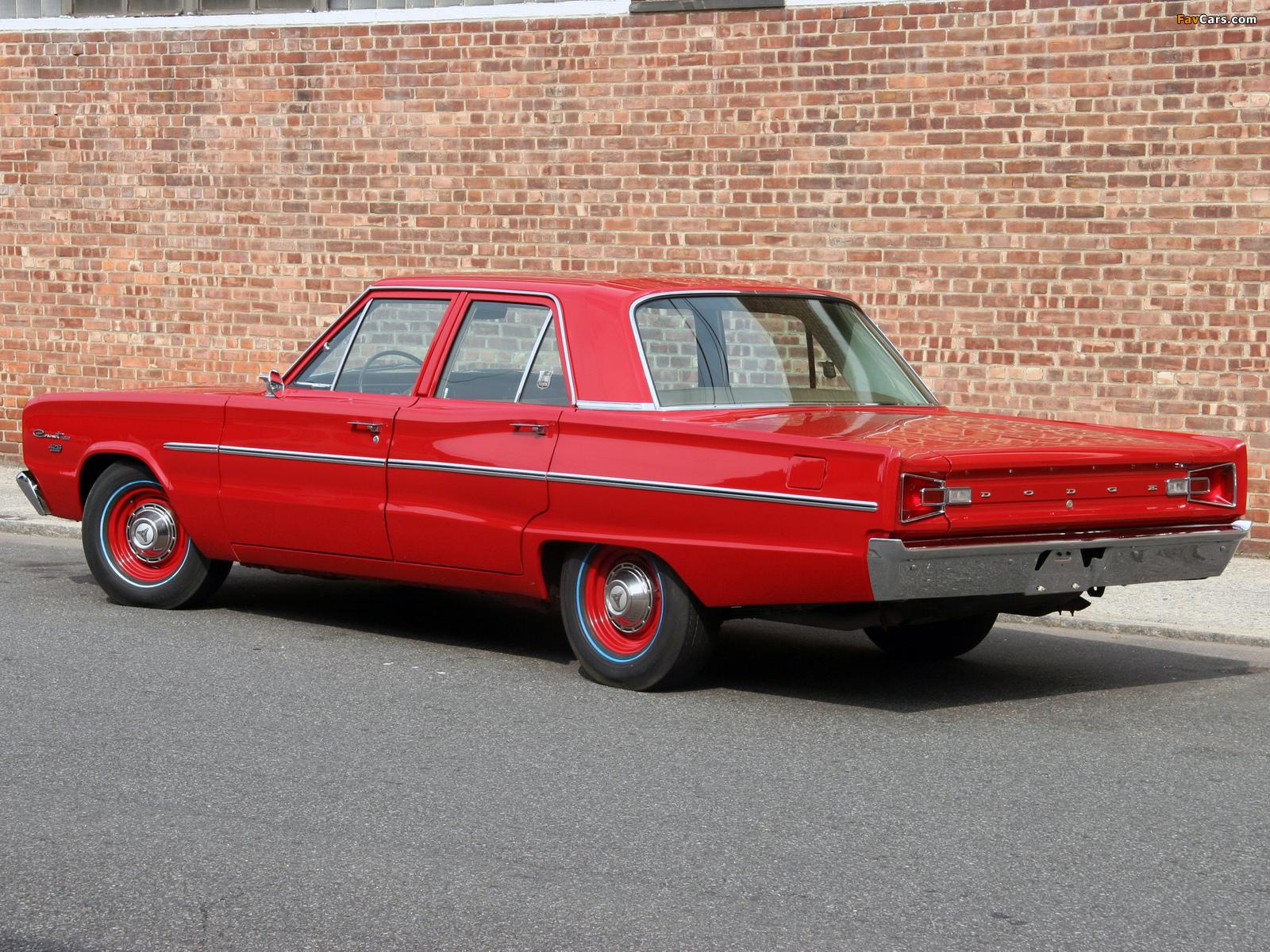Dodge Coronet Deluxe 426 Hemi 4-door Sedan 1966 images (1600 x 1200)