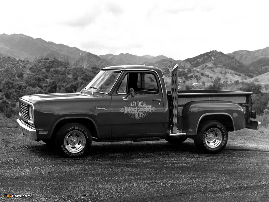 Dodge Adventurer Lil Red Express Truck 1978–79 photos (1024 x 768)