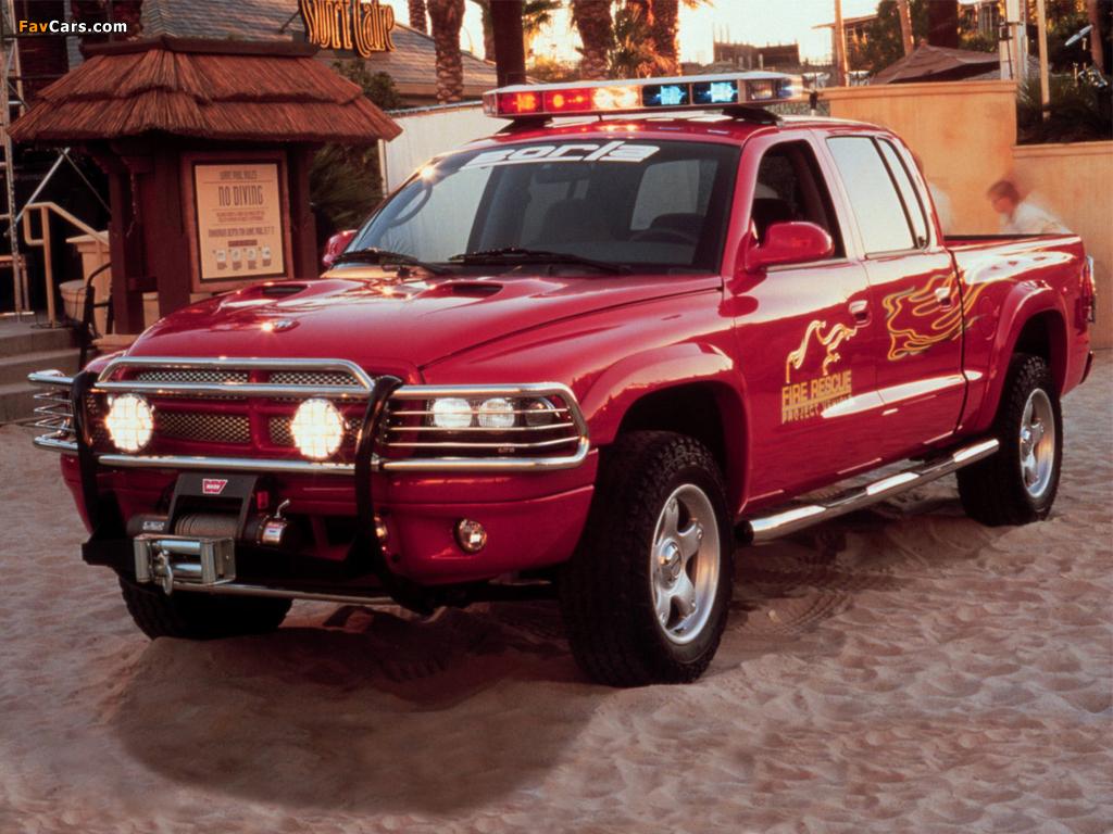 Dodge Dakota Quad Cab Fire Rescue Project Vehicle 2000 photos (1024 x 768)