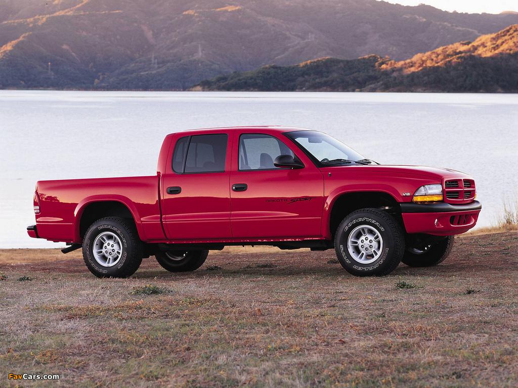 Dodge Dakota Sport Quad Cab 2000–04 pictures (1024 x 768)