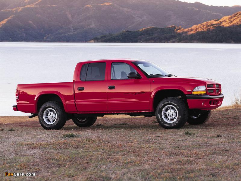 Dodge Dakota Sport Quad Cab 2000–04 pictures (800 x 600)