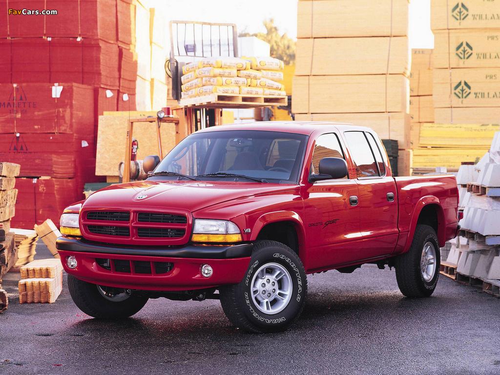 Dodge Dakota Sport Quad Cab 2000–04 wallpapers (1024 x 768)