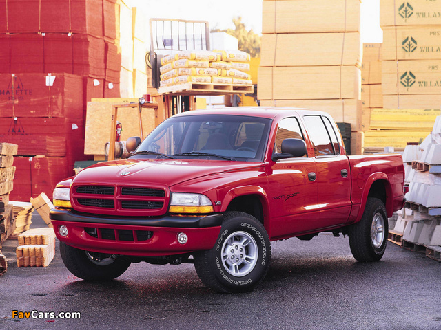 Dodge Dakota Sport Quad Cab 2000–04 wallpapers (640 x 480)