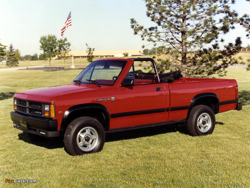 Dodge Dakota Convertible 1989 wallpapers (800 x 600)