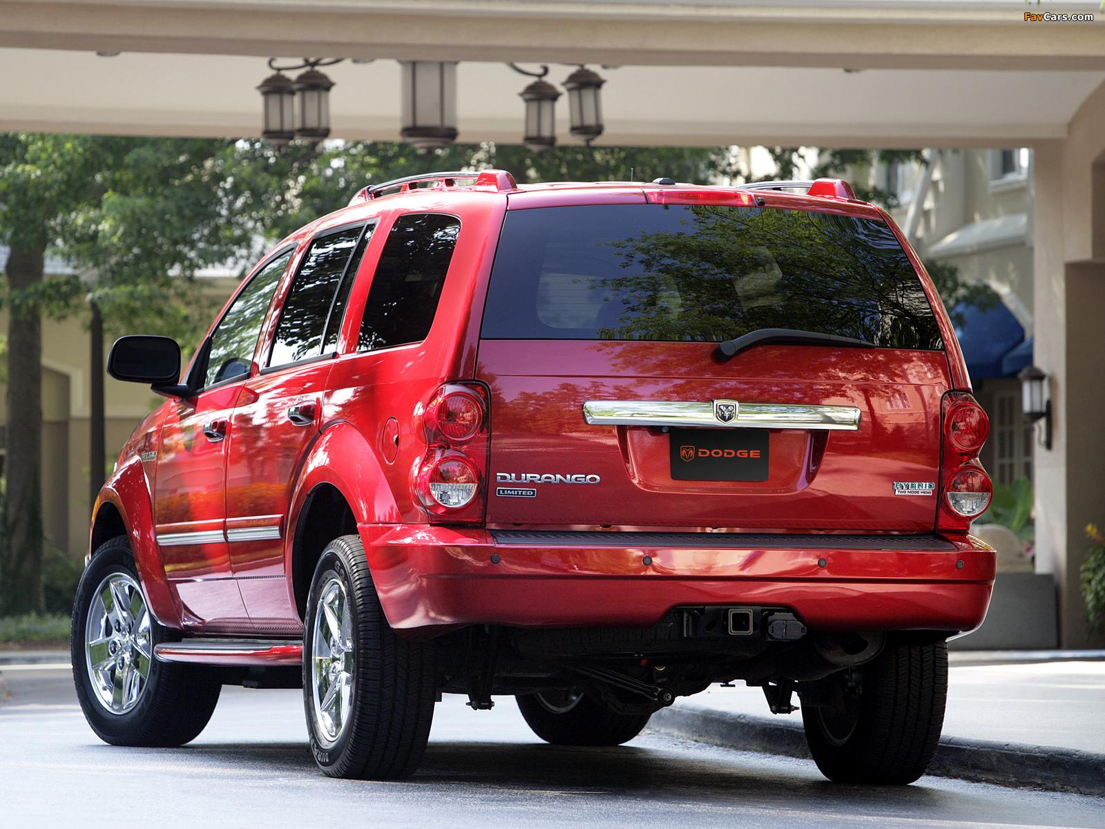 Dodge Durango Hybrid 2008 pictures (1600 x 1200)