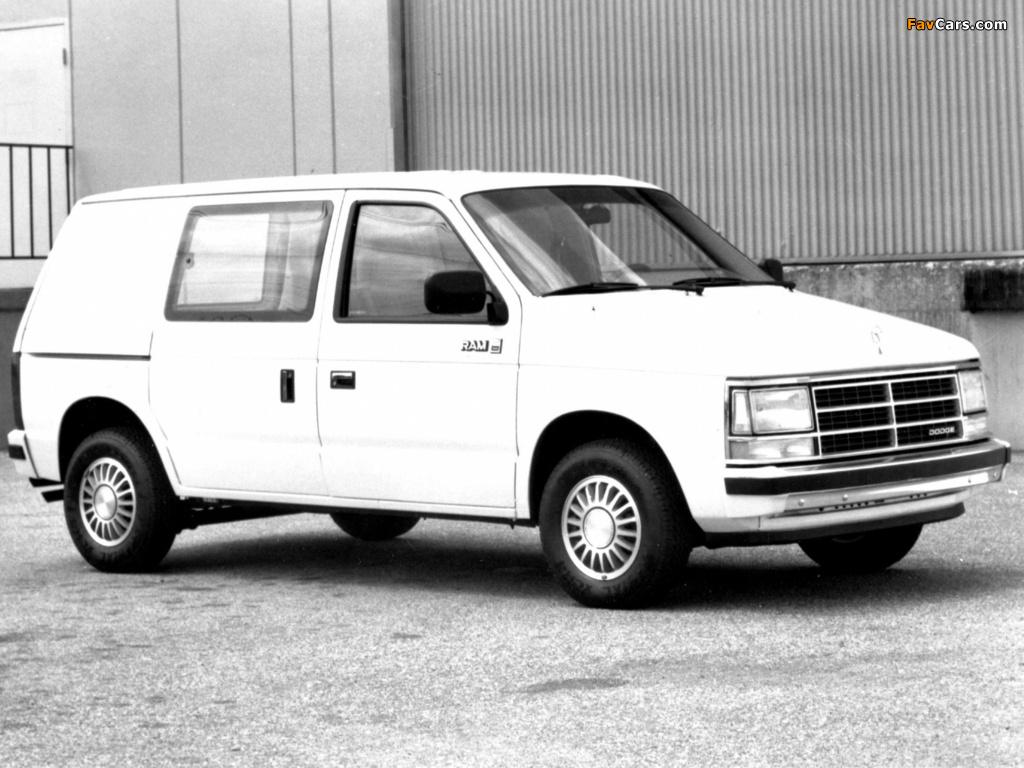 Dodge Mini Ram Van 1984–88 wallpapers (1024 x 768)