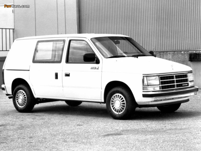 Dodge Mini Ram Van 1984–88 wallpapers (800 x 600)