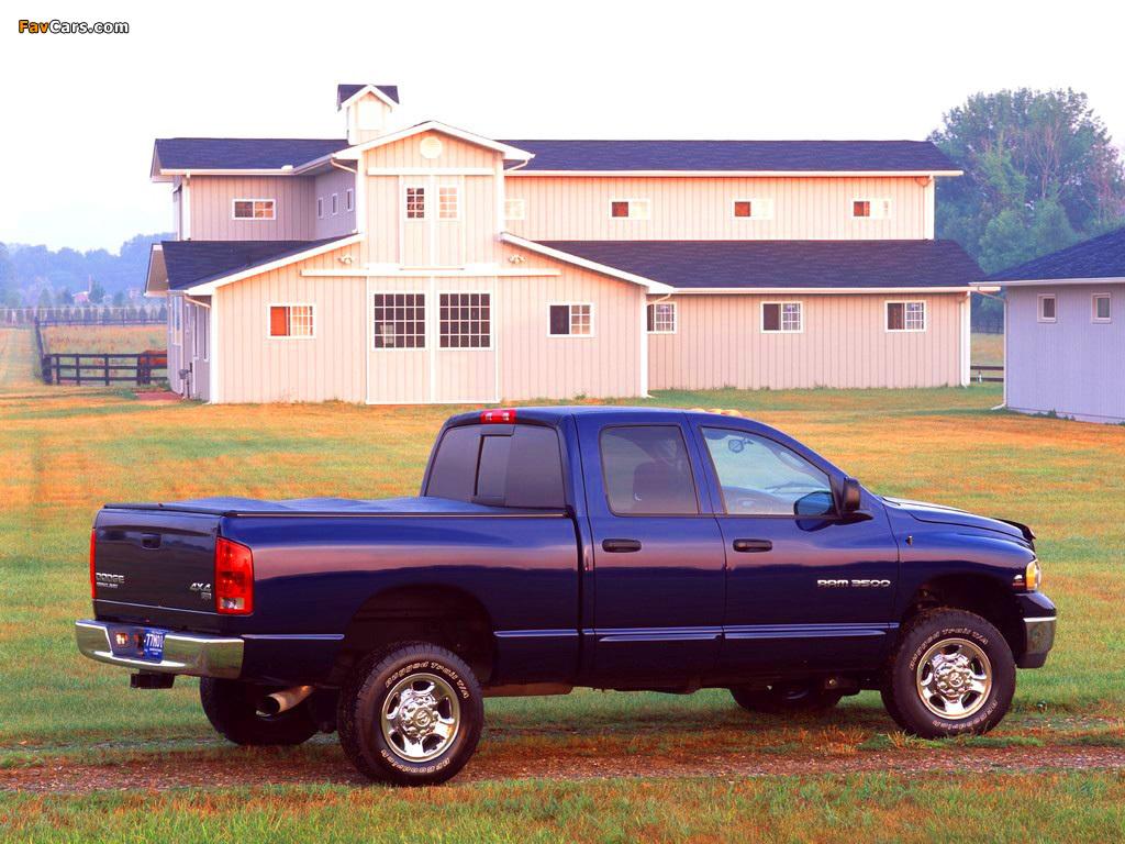 Dodge Ram 3500 Chassis Quad Cab 2003–06 photos (1024 x 768)