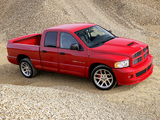 Dodge Ram SRT10 Quad Cab 2005–06 wallpapers