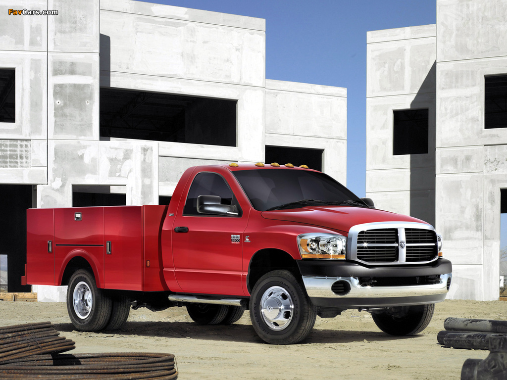 Dodge Ram 3500 Chassis Regular Cab 2006–09 pictures (1024 x 768)