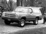 Dodge Ramcharger SE 1980 wallpapers