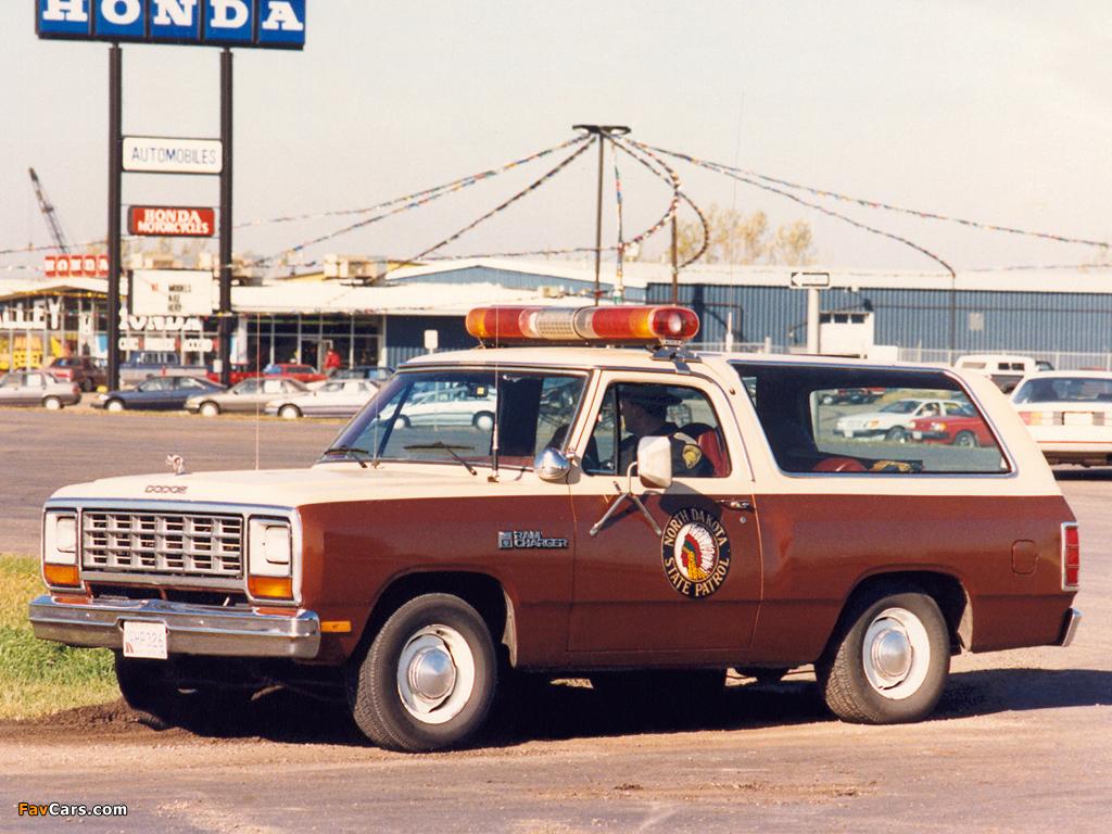 Photos of Dodge Ramcharger Patrol Car 1984 (1024 x 768)