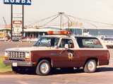 Photos of Dodge Ramcharger Patrol Car 1984