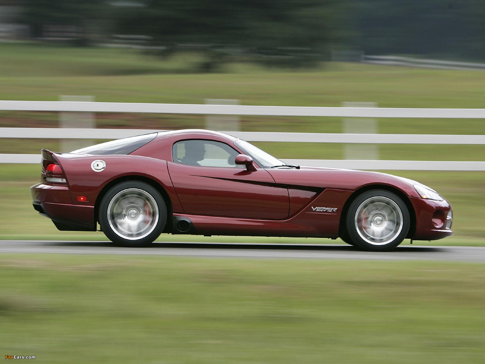 Dodge Viper SRT10 Coupe 2008–10 images (1600 x 1200)