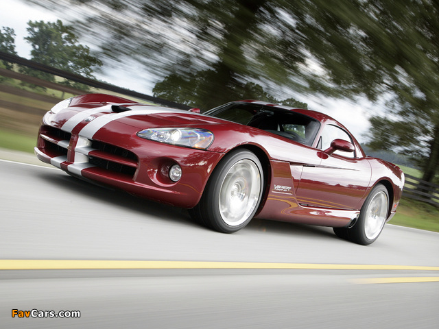 Dodge Viper SRT10 Coupe 2008–10 wallpapers (640 x 480)