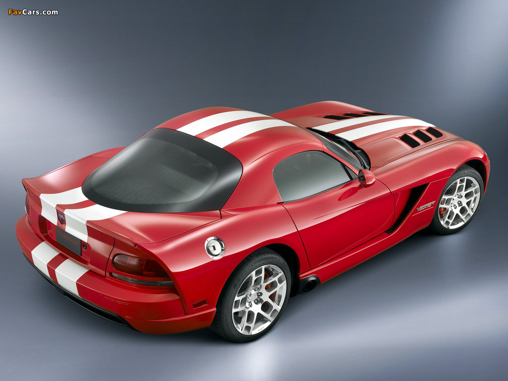Dodge Viper SRT10 Coupe 2008–10 wallpapers (1024 x 768)