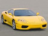 Ferrari 360 Modena US-spec 1999–2004 wallpapers