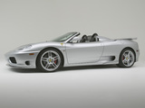 Novitec Rosso Ferrari 360 Spider Super Sport 2003–04 wallpapers