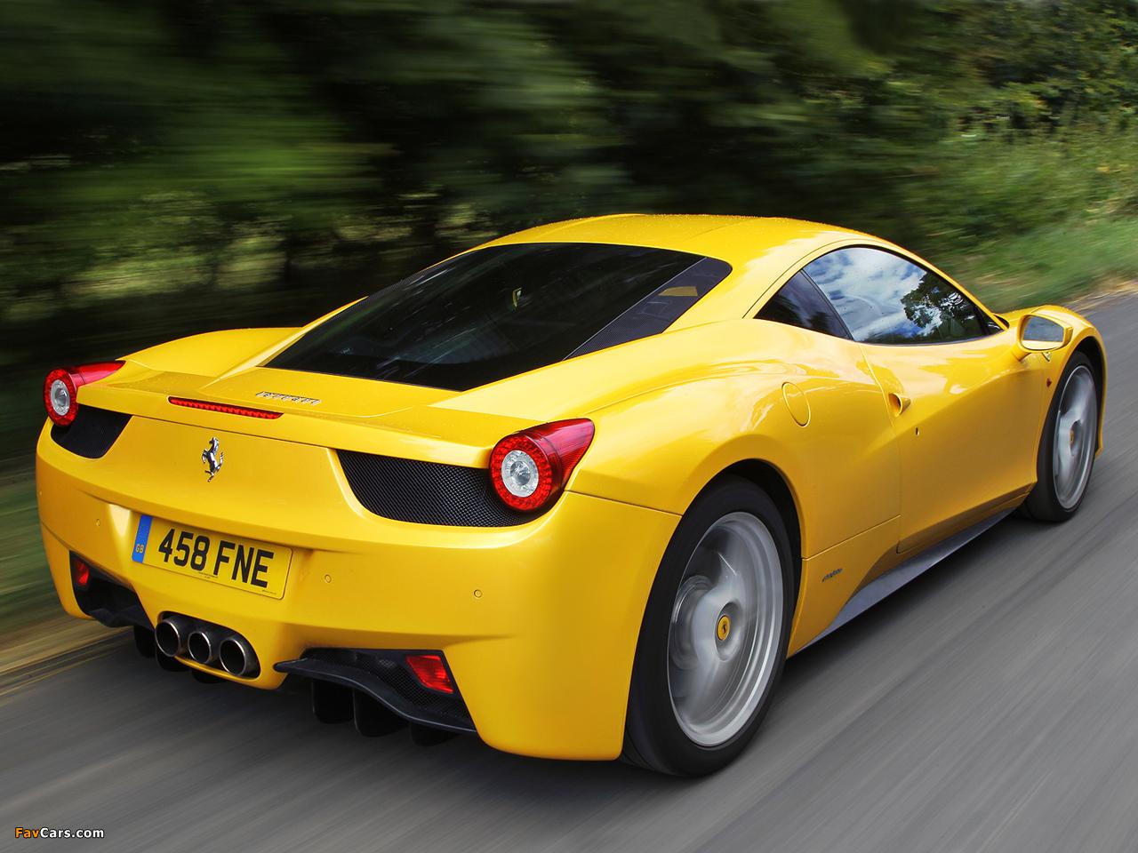 Ferrari 458 Italia UK-spec 2009 images (1280 x 960)