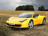 Ferrari 458 Italia UK-spec 2009 pictures