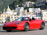 Ferrari 458 Spider 2011 photos