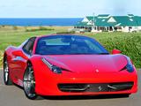Ferrari 458 Spider AU-spec 2012 pictures