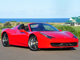 Images of Ferrari 458 Spider AU-spec 2012