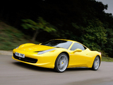Ferrari 458 Italia UK-spec 2009 wallpapers