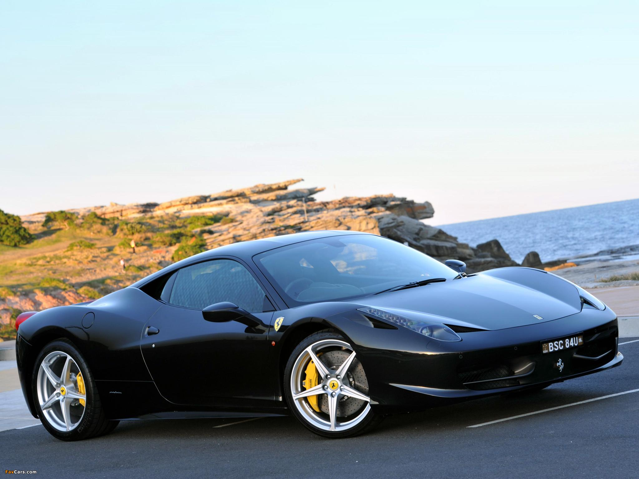 Download Red Black Ferrari 2048 X 2048 Wallpapers: Ferrari 458 Italia AU-spec 2009 Wallpapers (2048x1536