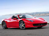 Ferrari 458 Spider AU-spec 2012 wallpapers