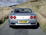 Ferrari 575 M Maranello UK-spec 2002–06 wallpapers