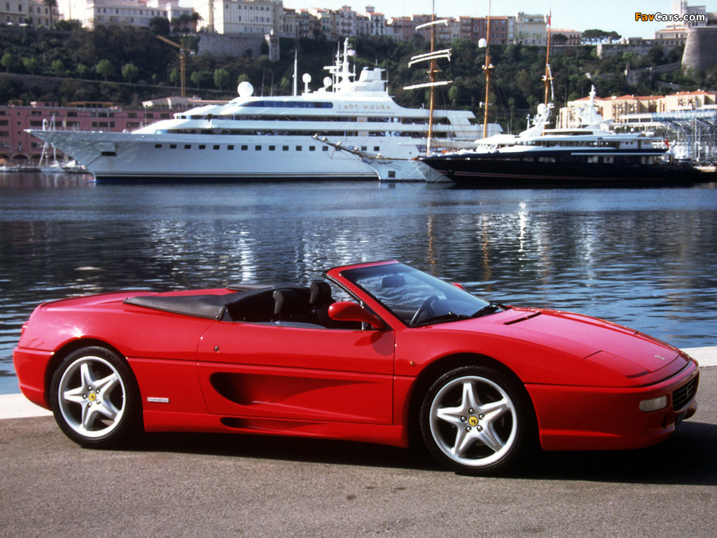 Ferrari F355 Spider 1994–99 wallpapers (1024 x 768)