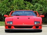 Pictures of Ferrari F40 US-spec 1987–92
