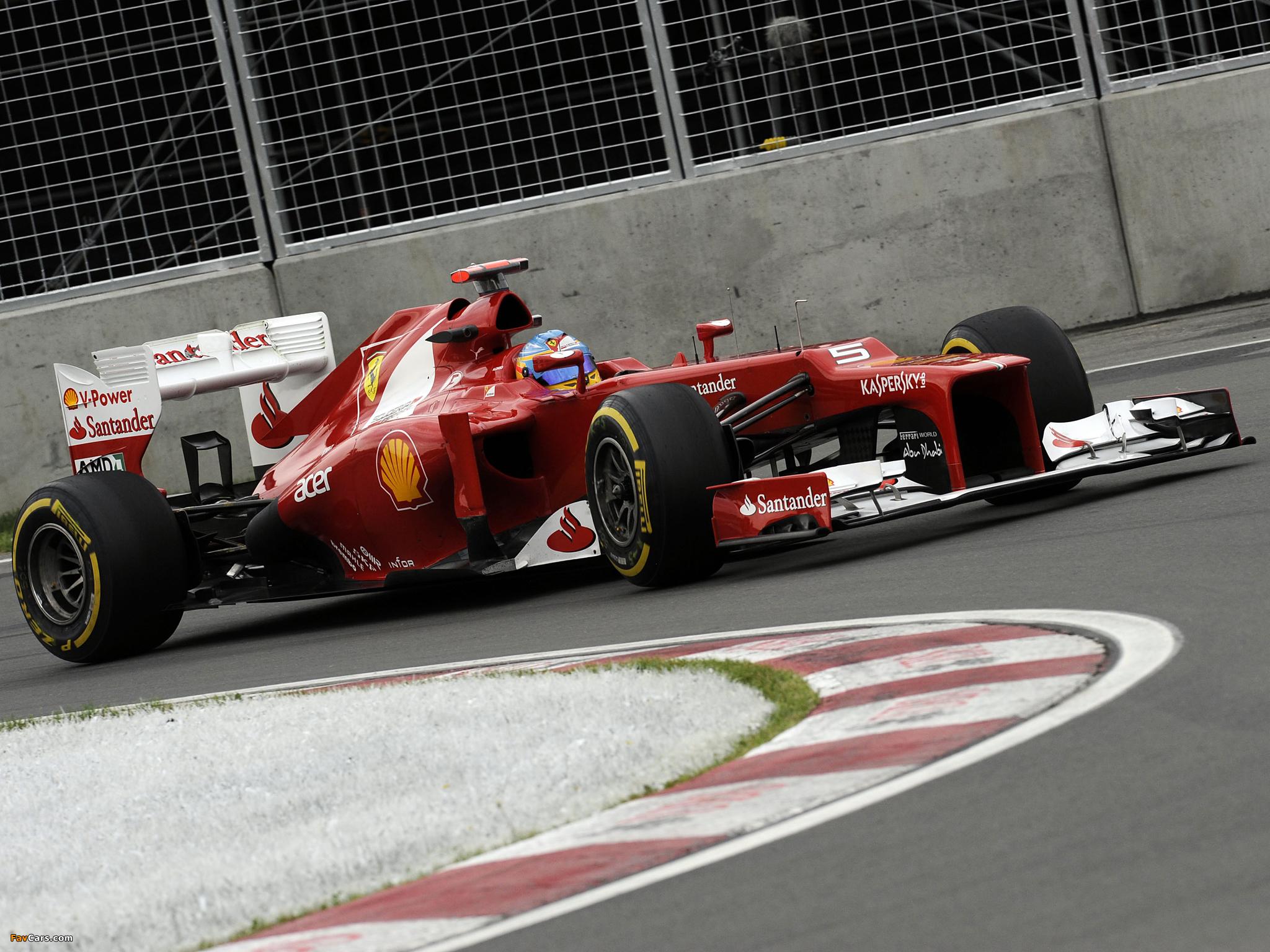 View Ferrari F1 2012 Wallpaper  Background