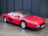 Ferrari Testarossa UK-spec 1986–92 wallpapers