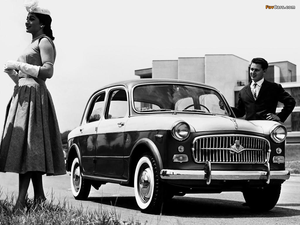 Fiat 1100 TV (103E) 1956–57 wallpapers (1024 x 768)