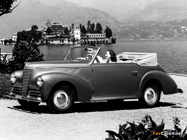 Pictures of Fiat 1100 B Cabriolet 1948–49 (640 x 480)