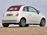 Fiat 500C UK-spec 2009 images