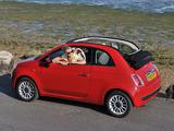 Fiat 500C UK-spec 2009 wallpapers