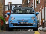 Fiat 500C TwinAir UK-spec 2010 wallpapers