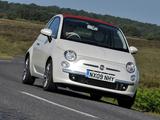 Images of Fiat 500C UK-spec 2009