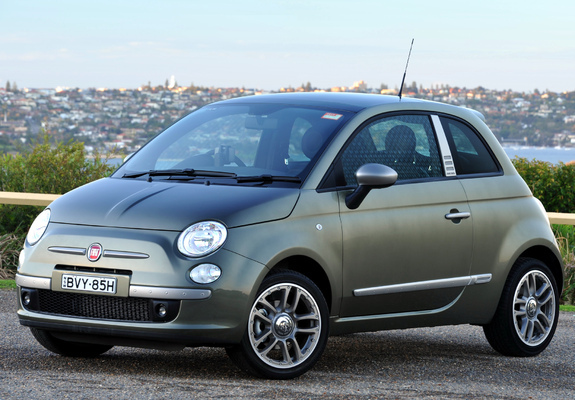 pictures of fiat 500 by diesel au spec 2010. Black Bedroom Furniture Sets. Home Design Ideas