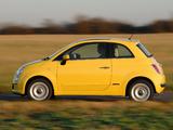 Fiat 500 UK-spec 2008 wallpapers
